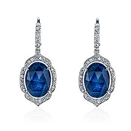 Penny Preville 18K White Gold with Sapphire & Diamond Earrings