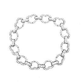 Aaron Basha Open Heart Diamond Bracelet