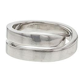 Cartier Paris Nouvelle Vague Crossover Ring 18K White Gold Size 4.75