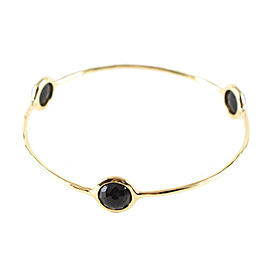 Ippolita 18K Yellow Gold with Onyx Bangle Bracelet