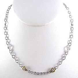 Judith Ripka 18K Yellow Gold and Sterling Silver with 0.06ctw Diamond Necklace