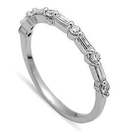 14K White Gold 0.35Ct Diamond Band Ring