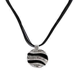 Roberto Coin 18K Yellow and White Gold with Onyx and Diamond Elephantino Necklace