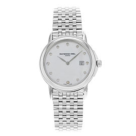 Raymond Weil Tradition MOP Stainless Steel Quartz Ladies Watch 5966-ST-97001