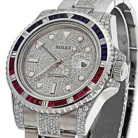 Rolex 116710 GMT-Master II Genuine Diamonds Men's Watch