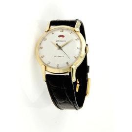Le Coultre 14k Yellow Gold Case Vintage Men's Wrist Watch