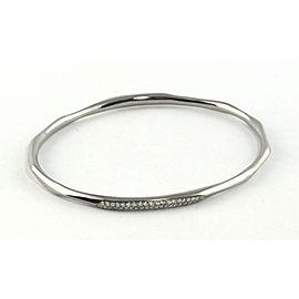Ippolita Rhodium Sterling Silver Diamond Bangle Bracelet