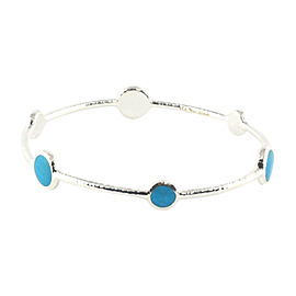 Ippolita Sterling Silver Blue Howlite Stone Bangle Bracelet