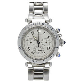 Cartier Stainless Steel 38mm Pasha Chronograph Unisex Quartz Watch