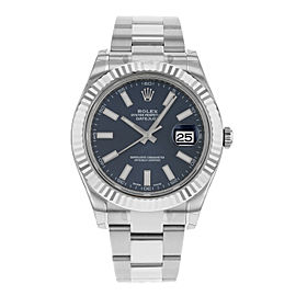 Rolex Datejust II 116334 blio 18K White Gold & Steel Automatic Men's Watch