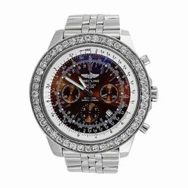 Breitling For Bentley Motors A15362 Stainless Steel 9.00ct Diamonds Bezel Watch