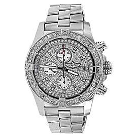 Breitling A13370 Super Avenger Diamond Dial Diamond Watch