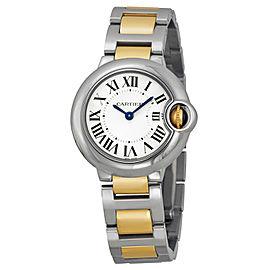 Cartier Ballon Bleu W69007Z3 18K Yellow Gold and Stainless Steel Quartz Womens Watch