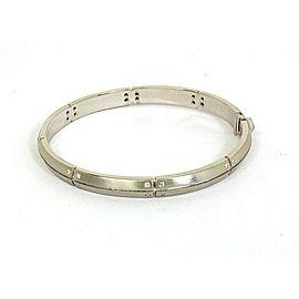 Tiffany & Co. 18K White Gold Streamerica Diamonds Bangle Bracelet