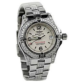 Breitling Colt Oceane A77380 Quartz Stainless Steel Diamond Womens Watch