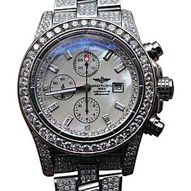Breitling Super Avenger Stainless Steel With Diamonds Mens Watch