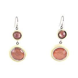 Ippolita Sterling Silver Resin Hard Gloss Double Lollipop Pink Guava Earrings