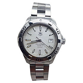 Tag Heuer Aquaracer WAP2011 Caliber 5 Automatic White Dial Mens Watch