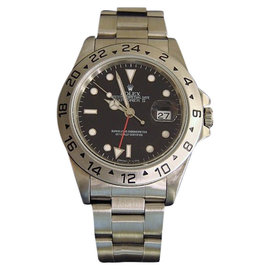Rolex Explorer II 16570 Stainless Steel Oyster With Black Dial Mens Watch