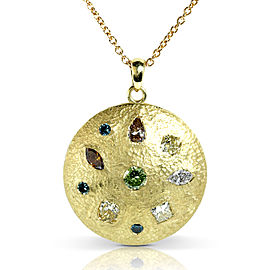 "Multiple Diamond Pendant 2 7/8 Carat (ctw) in 18k Yellow Gold (16"" Chain)"