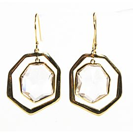 Ippolita 18K Yellow Gold & Clear Quartz Modern Rock Candy Drop Earrings