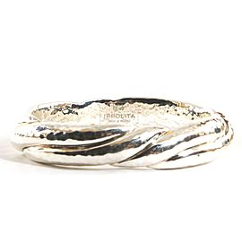 Ippolita Sterling Silver Glamazon Thick Twisted Bangle Bracelet