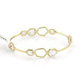 Ippolita Rock Candy 18k Yellow Gold Clear Quartz Bangle Bracelet