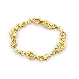 Carrera y Carrera Aqua 18k Yellow Gold Fancy Curve Link Bracelet