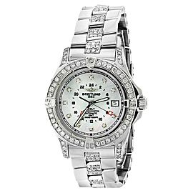 Breitling Colt A32350 Stainless Steel Mother Of Pearl Dial Automatic 40mm Mens Watch