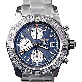 Breitling Colt Chronograph Stratus Blue Dial Stainless Steel Diamond 44 mm Mens Watch