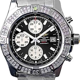Breitling Colt Chronograph Stratus Black Dial Stainless Steel 44 mm Mens Watch
