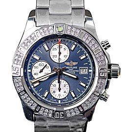 Breitling Colt Chronograph Stratus Blue Dial Stainless Steel with Diamond 44mm Mens Watch