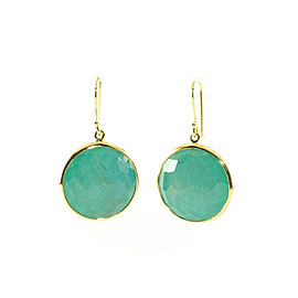 Ippolita Rock Candy 18K Yellow Gold Rutilated Quartz Turquoise Lollipop Earrings