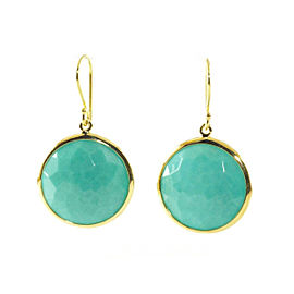 Ippolita 18K Yellow Gold Turquoise Lollipop Rock Candy Drop Dangle Earrings
