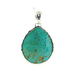 Ippolita .925 Sterling Silver Turquoise Large Teardrop Enhancer Pendant