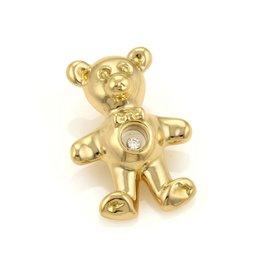 Chopard 18K Yellow Gold Happy Diamond Teddy Bear Pendant