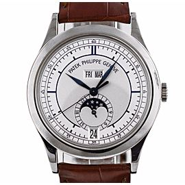 Patek Philippe 5396G-001 18K White Gold / Leather 39mm Unisex Watch