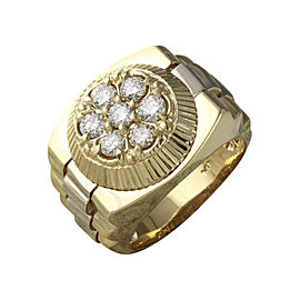 14K Yellow Gold with 1.25ct Diamond Ring Size 9.25
