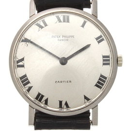 Patek Philippe Calatrava 3512 18K White Gold / Leather Manual Vintage 30.5mm Unisex Watch