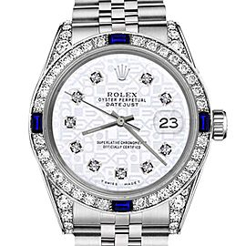 Rolex Datejust White Jubilee Dial with Sapphire & Diamonds Bezel 26mm Unisex Watch