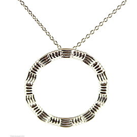 Roberto Coin 18K White Gold Circle Pendant Necklace