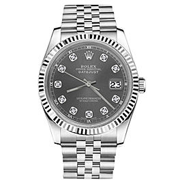 Rolex Datejust Stainless Steel With Grey Dial 31mm Womens Watch