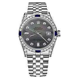 Rolex Datejust Stainless Steel With Black Mother Of Pearl Dial 31mm Unisex Watch