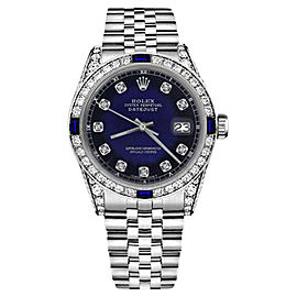 Rolex Datejust Stainless Steel With Blue Vignette Dial 31mm Unisex Watch