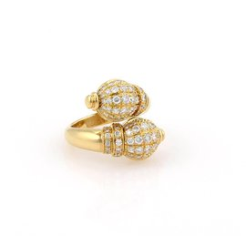 Boucheron 18K Yellow Gold with Diamond Ring Size 6.5