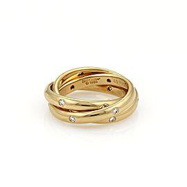 Cartier Trinity 18K Yellow Gold & Diamond Band Ring Size 5