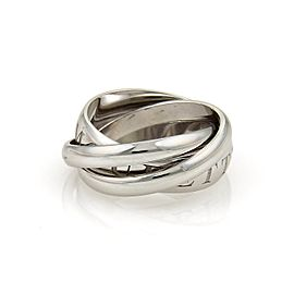 Cartier Amour Et Trinity 18K White Gold Rolling Band Ring Size 6