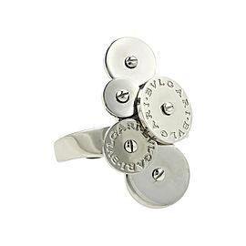 Bulgari Cicladi 18K White Gold Cluster Discs Ring Size 5.75