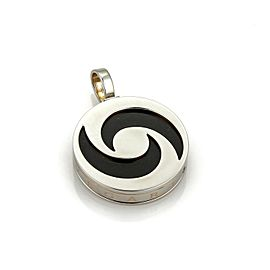 Bulgari Optical 18K Gold and Stainless Steel with Onyx Pendant