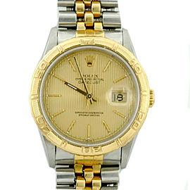 Rolex Datejust 16263 18K Yellow Gold Stainless Steel 36mm Unisex Watch